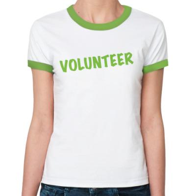 Женская футболка Ringer-T Volunteer