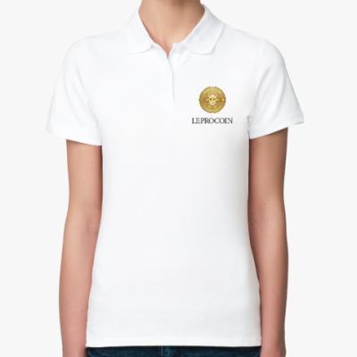 Женская рубашка поло Leprocoin