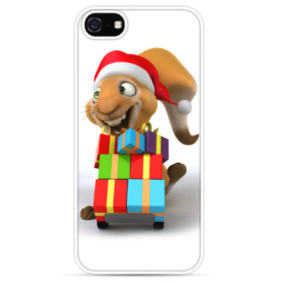 Чехол для iPhone Белка с новогодними подарками