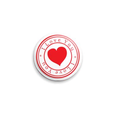 Значок 25мм Печать любви