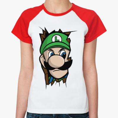 Женская футболка реглан Луиджи Марио