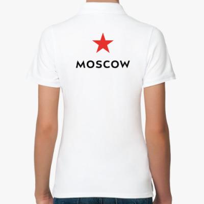 Женская рубашка поло логотип Москвы