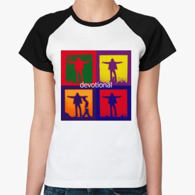 Женская футболка реглан  Depeche Mode