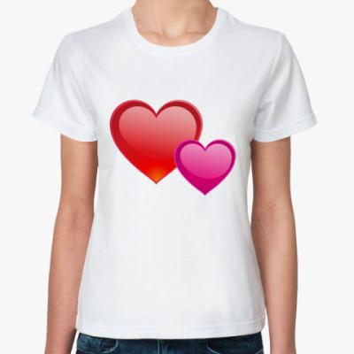 Классическая футболка Сердечки