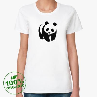 Женская футболка из органик-хлопка WWF. Панда