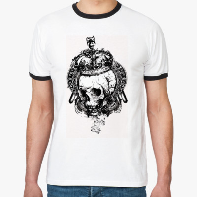 Футболка Ringer-T Crown Scull