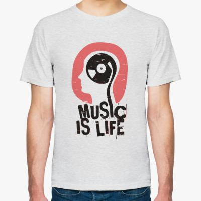 Футболка Music is life
