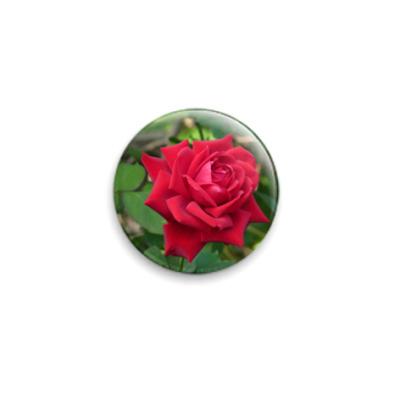 Значок 25мм Роза