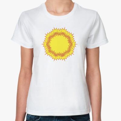Классическая футболка зигзагообразное солнце