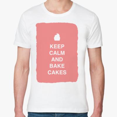Футболка из органик-хлопка Keep calm and bake cakes