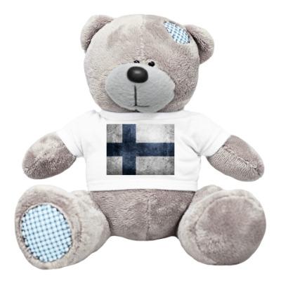 Плюшевый мишка Тедди Финский флаг