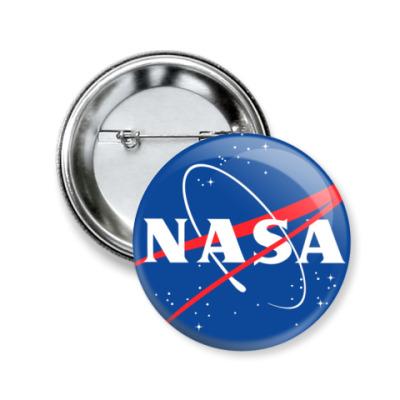 Значок 50мм  50 мм NASA