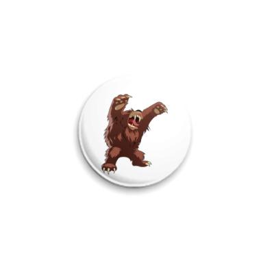 """Значок 25мм  """"Медвед"""" 25 мм"""