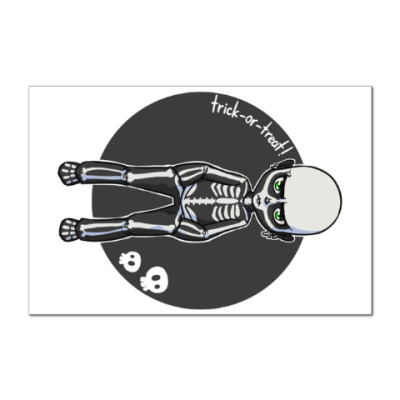 Наклейка (стикер) Скелет