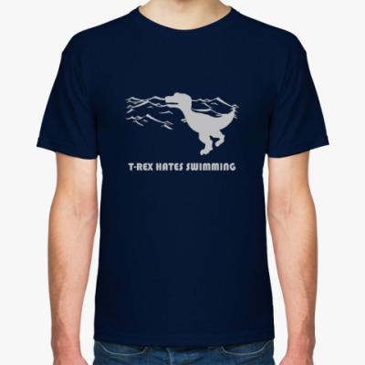 Футболка Тиранозавр Рекс и плавание