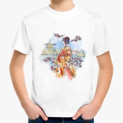 Детская футболка Япония - сакура