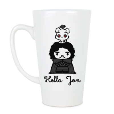 Чашка Латте Hello Jon