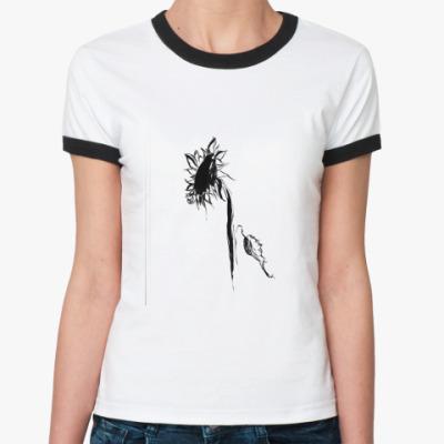 Женская футболка Ringer-T  Sun-Flower
