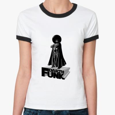 Женская футболка Ringer-T  Дарт Фанк