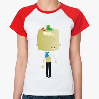 Женская футболка реглан Персонаж