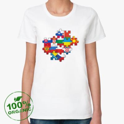 Женская футболка из органик-хлопка Славянский пазл