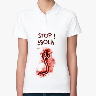 Женская рубашка поло Stop! Ebola