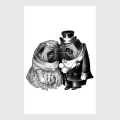 Постер Совет да любовь. Свадьба мопсов
