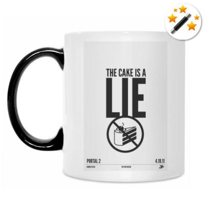 Кружка-хамелеон The cake is a LIE