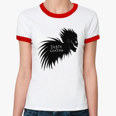 Женская футболка Ringer-T Death is coming