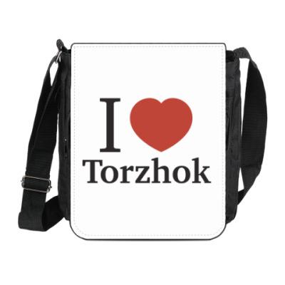 Сумка на плечо (мини-планшет) Я люблю Торжок