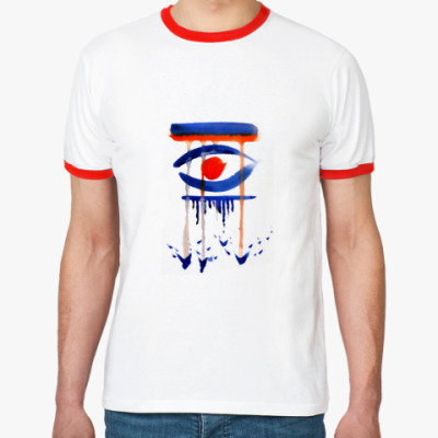 Футболка Ringer-T Глаз. Дождь