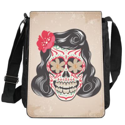 Сумка-планшет Skull Girl