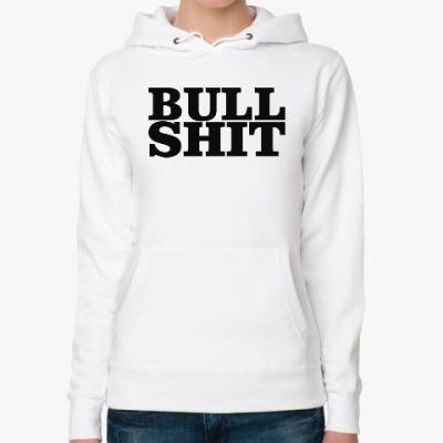 Женская толстовка худи BullShit