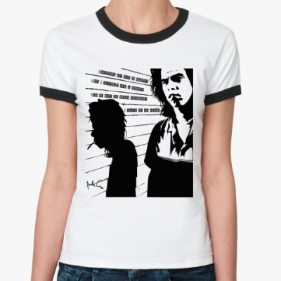 Женская футболка Ringer-T  Nick Cave