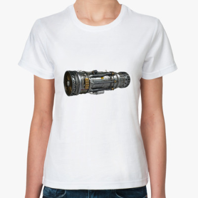 Классическая футболка Турбореактивный двигатель