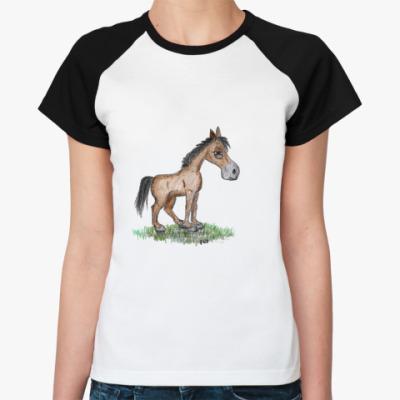 Женская футболка реглан Коняка-подозревака 2