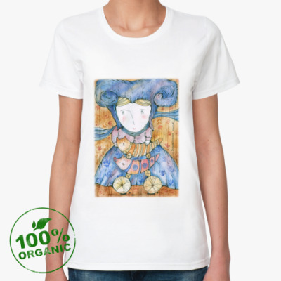 Женская футболка из органик-хлопка Волшебница Котов