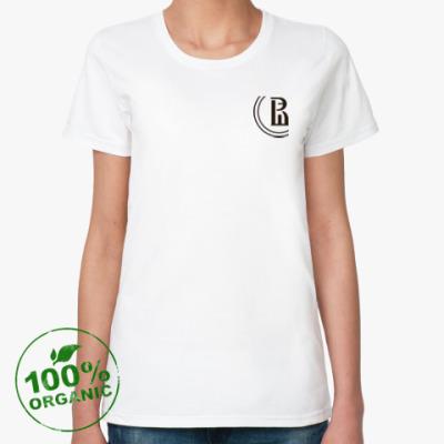 Женская футболка из органик-хлопка 'НИУ ВШЭ'