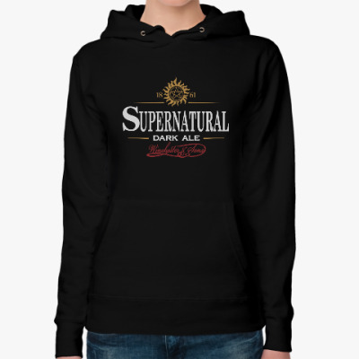 Женская толстовка худи Supernatural - Темный эль