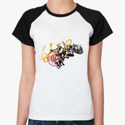 Женская футболка реглан SK8