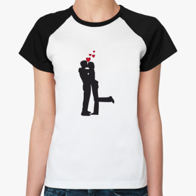 Женская футболка реглан Сладкая парочка