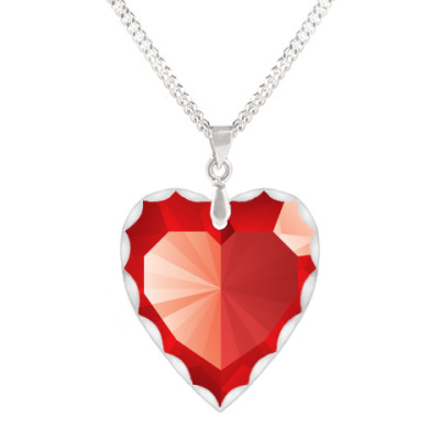 Кулон 'сердце' рубиновое сердце