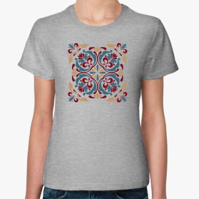 Женская футболка Винтажный узор