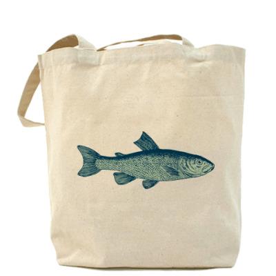 Сумка Холщовая сумка Рыба