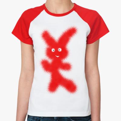 Женская футболка реглан Зая