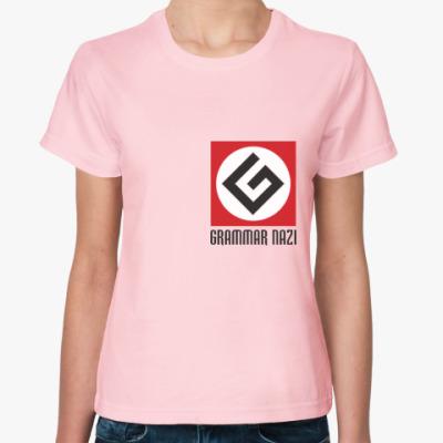 Женская футболка Женский граммарнацизм