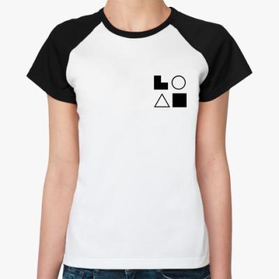 Женская футболка реглан  ЭСЭ (Гюго)