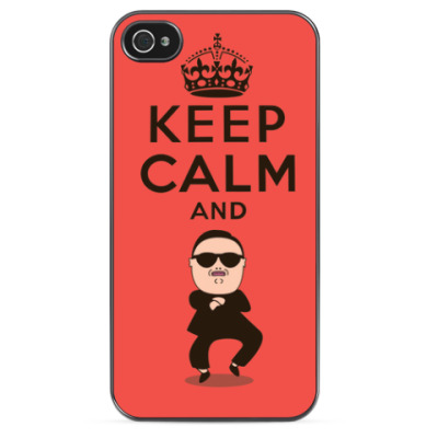 Чехол для iPhone Keep Calm and Gangmam Style