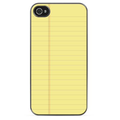 Чехол для iPhone Тетрадный лист