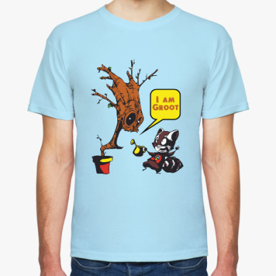 Футболка Groot and Rocket Raccoon